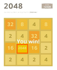 2048 mobile game puzzle