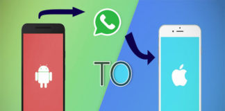 whatsApp from android to iphone