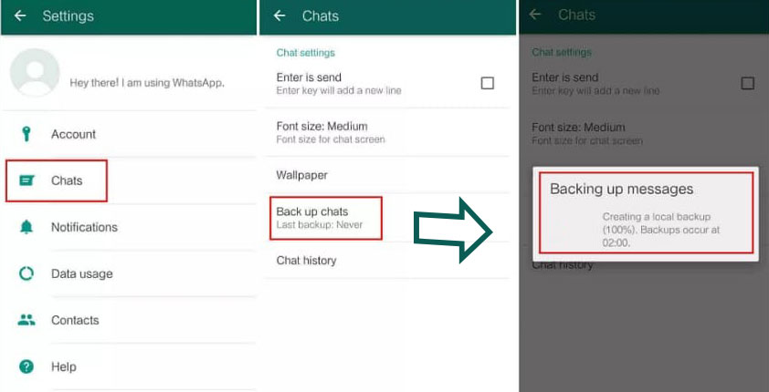 transfer whatsApp from android to iphone3